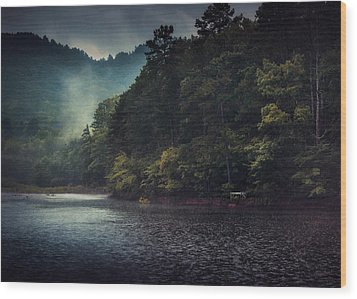 Tanglewood Lake Wood Print by William Schmid