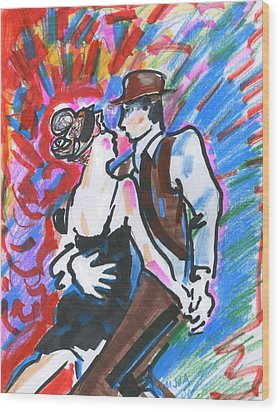 Tango A Wood Print by Mary Armstrong