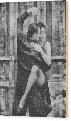 Tango Wood Print by Ayse Deniz
