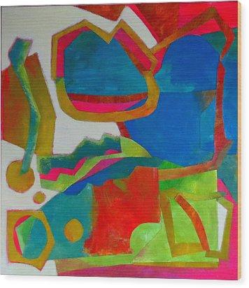 Tango Wood Print by Diane Fine