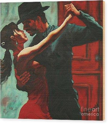 Tango Intensity Wood Print