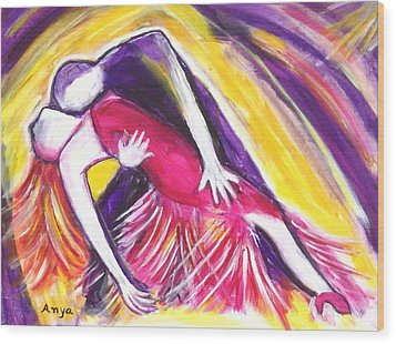 Tango Love Wood Print by Anya Heller