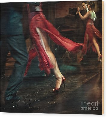Tango Reflection Wood Print