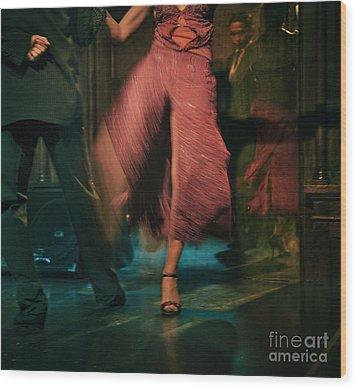 Tango - The Dance Wood Print by Michel Verhoef
