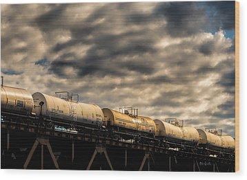 Tank Cars Wood Print by Bob Orsillo