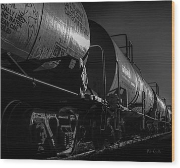 Tanker Cars Wood Print by Bob Orsillo