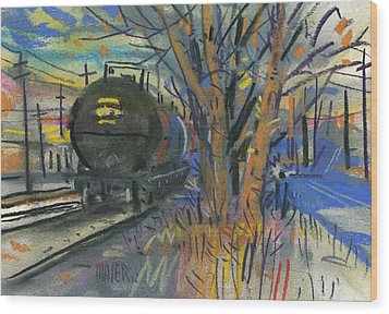 Tankers On The Line Wood Print by Donald Maier