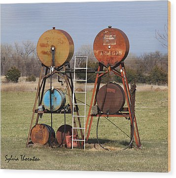 Wood Print featuring the photograph Tanks For The Memories by Sylvia Thornton