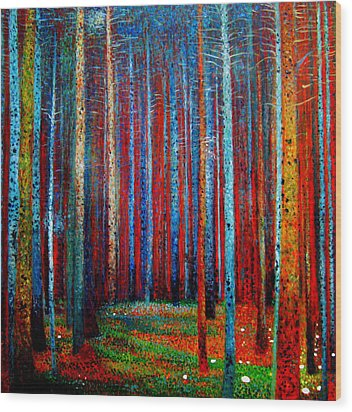 Tannenwald Wood Print by Celestial Images