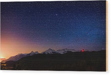 Tantalus Lookout Wood Print by Alexis Birkill