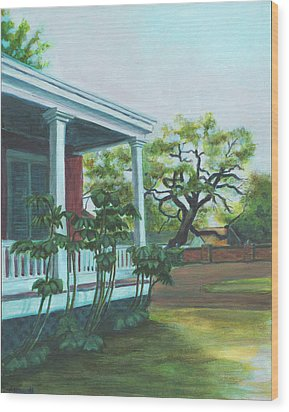 Tante Huppe Inn Wood Print by Ellen Howell