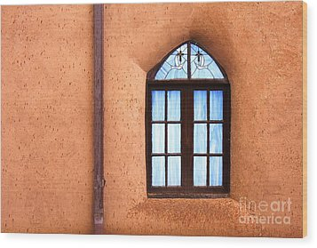 Taos Church 2 Wood Print by Kathlene Pizzoferrato