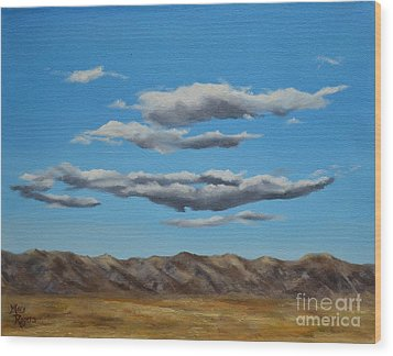 Taos Clouds Wood Print by Mary Rogers