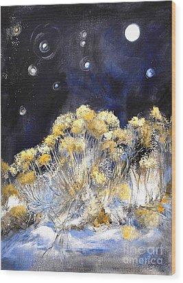 Taos Night Orbs Wood Print