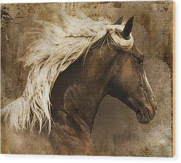 Taos Wood Print by Priscilla Burgers