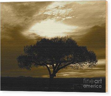 Taos Tree Wood Print