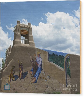 Taos Wall Art Wood Print by Patricia Januszkiewicz