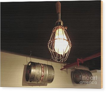 Tap Light Wood Print by Paul Foutz