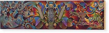 Tapestry Of Gods Wood Print by Ricardo Chavez-Mendez