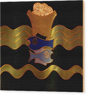 Tapestry Of Holy Sacraments 2 Wood Print by Antonia Citrino
