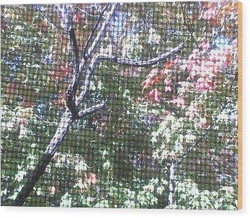 Tapestry Of Leaves 1 Wood Print by Gayle Price Thomas