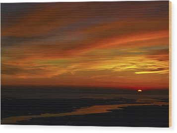 Rappahannock Sunrise II Wood Print by Greg Reed