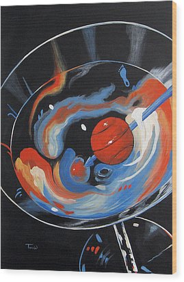 Tar Heel Martini 2011 Wood Print