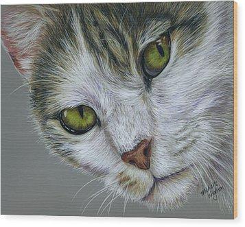 Tara Cat Art Wood Print