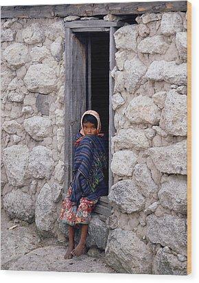 Tarahumara Child Wood Print by Erik Poppke