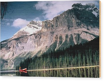 Tranquility...emerald Lake Canada Wood Print by Peggy Stokes