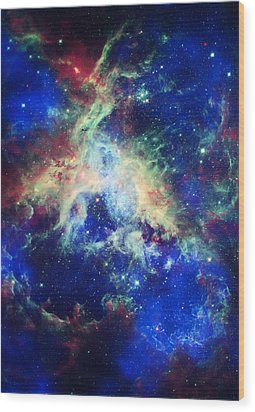 Tarantula Nebula 4 Wood Print by Jennifer Rondinelli Reilly - Fine Art Photography