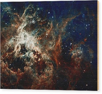 Tarantula Nebula Wood Print by Amanda Struz