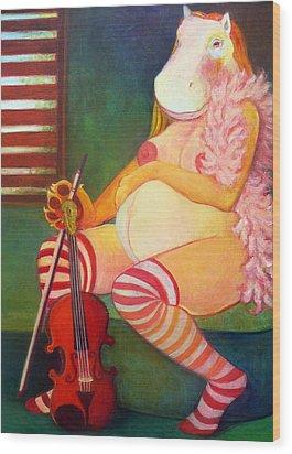 Tarawet Wood Print by Deenie Wallace