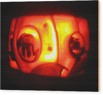 Tarboy Pumpkin Wood Print by Shawn Dall