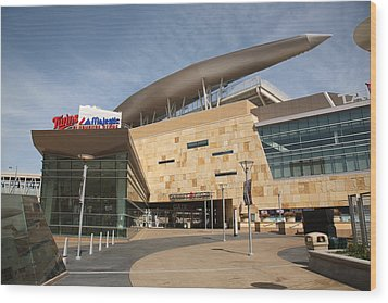 Target Field - Minnesota Twins Wood Print by Frank Romeo
