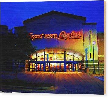 Wood Print featuring the digital art Target Super Store C by P Dwain Morris