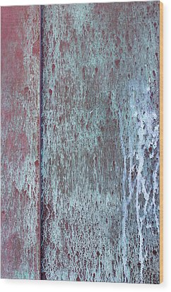 Wood Print featuring the photograph Tarnished Tin by Heidi Smith
