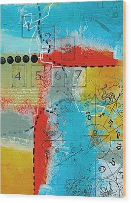 Tarot Art Abstract Wood Print by Corporate Art Task Force