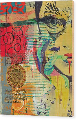 Tarot Card Abstract 007 Wood Print by Corporate Art Task Force