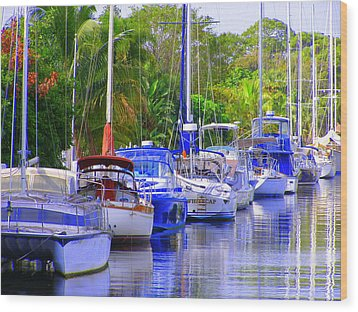Wood Print featuring the photograph Tarpon River by Artists With Autism Inc