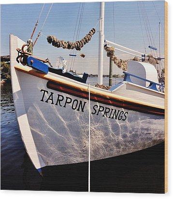 Tarpon Springs Spongeboat Wood Print by Benjamin Yeager