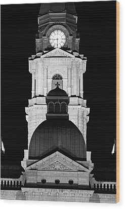 Tarrant County Courthouse Bw V1 020815 Wood Print