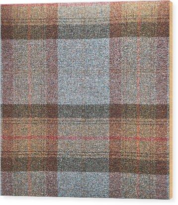 Tartan Wool Wood Print by Tom Gowanlock