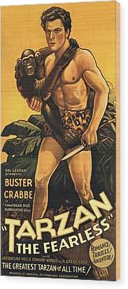 Tarzan The Fearless  Wood Print by Movie Poster Prints