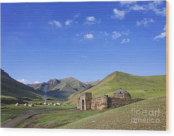 Tash Rabat Caravanserai In The Tash Rabat Valley Of Kyrgyzstan  Wood Print by Robert Preston