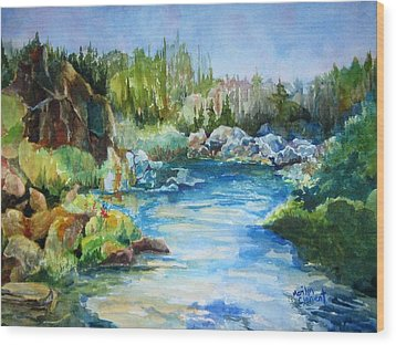 Tasmania River Wood Print