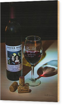 Taste Of Red Wood Print by Jeff Swanson