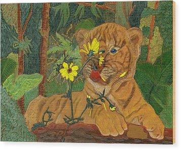 Taste Of Summer Wood Print by James McGarry Leather Artist