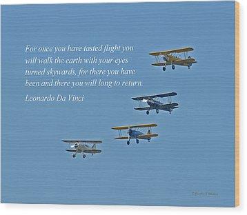 Tasting Flight Wood Print by Jonathan E Whichard