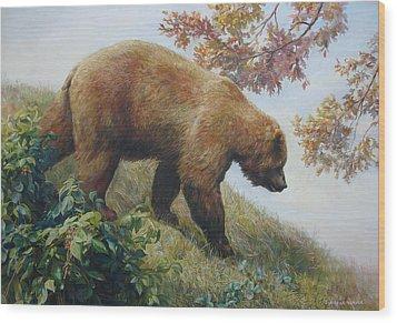 Tasty Raspberries For Our Bear Wood Print by Svitozar Nenyuk